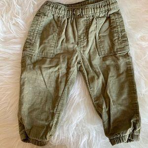 'Baby B'Gosh' - Green Corduroy Pants | 9 month